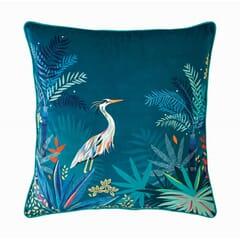 Heron cushion Teal