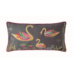 Swan Cushion Dark Grey