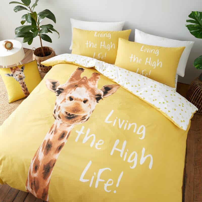 Catherine Lansfield Giraffe Yellow large