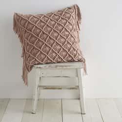 Macrame Diamond Blush Cushion Cover