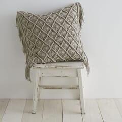 Macrame Diamond Stone Cushion Cover