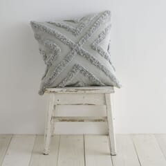 Diamond Tufted Silver Cushion Covers