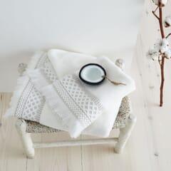 Diamond Fringe Towels Natural