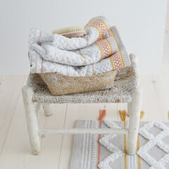 Diamond Jacquard Towels Natural