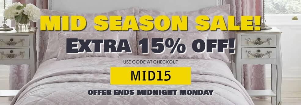 Mid Season Sale - Extra 15% Off
