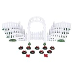 Lemax - Plastic Arbor and Picket Fences Wdecorations Set Of 20