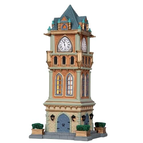 Lemax - Municipal Clock Tower Battery Operated Led