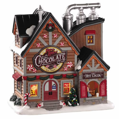 Lemax - For The Love Of Chocolate Shop Battery Operated Led