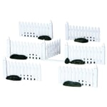 Lemax - Plastic Picket Fence - Set of 7