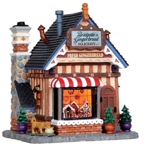 Lemax - Bridgettes Gingerbread Bakery (B/O LED)
