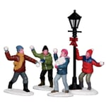 Lemax - Snowball Fight! Set Of 4