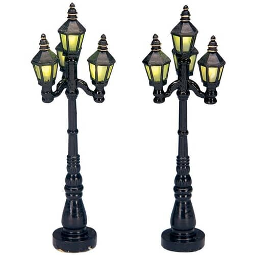 Lemax - Old English Street Lamp Set Of 2 Battery Operated (4.5V)