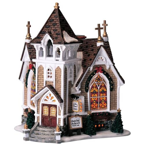 Lemax - Little River Church Battery Operated Led
