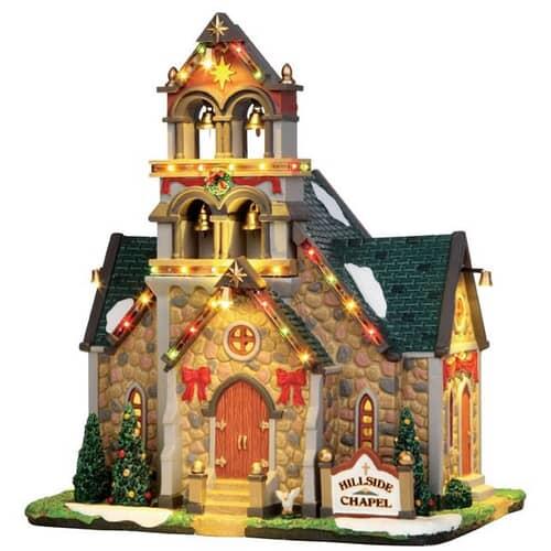 Lemax - Hillside Bell Chapel With 4.5V Adaptor