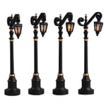 Lemax - Colonial Street Lamp Set Of 4 B/O (4.5V)