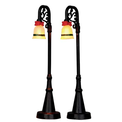 Lemax - Bell Ornament Lamp Post Set Of 2 (B/O 4.5V)
