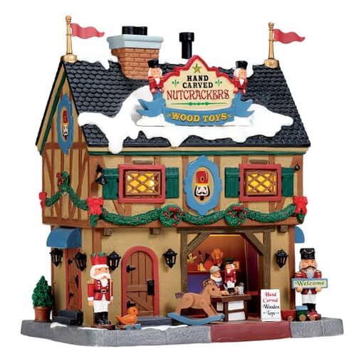 Lemax - Nutcracker And Wood Toy Carve Battery Operated Led