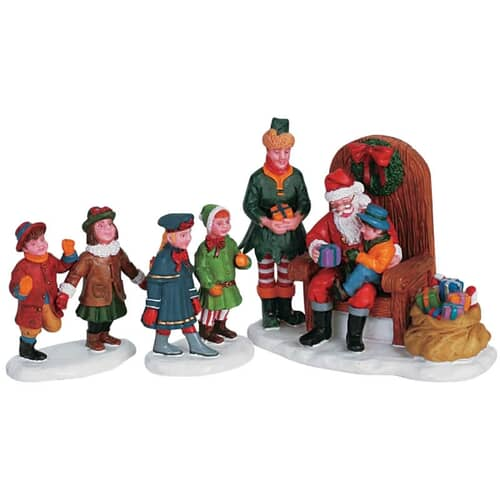 Lemax - Visiting Santa Set Of 3