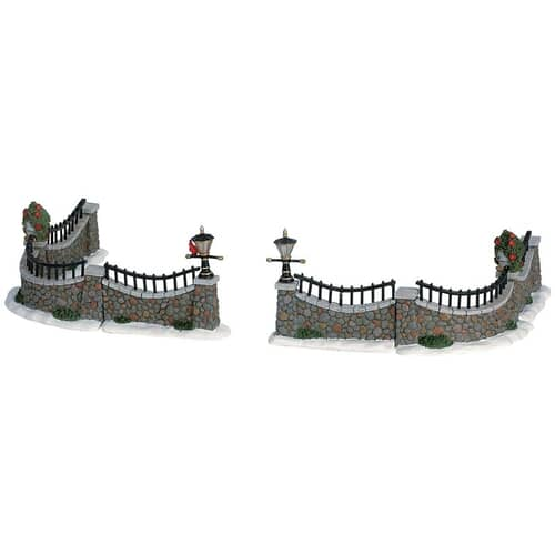 Lemax - Stone Wall Set Of 6