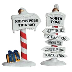 Lemax - North Pole Signs Set Of 2