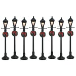 Lemax - Gas Lantern Street Lamp Set Of 8 B/O (4.5V)