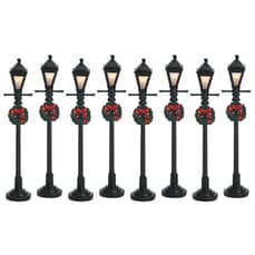 Lemax - Gas Lantern Street Lamp Set Of 8 Battery Operated (4.5V)