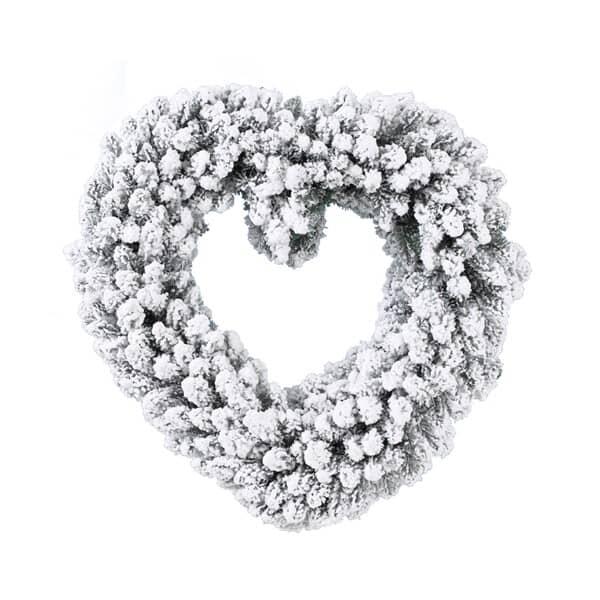 Kaemingk Imperial Wreath Snowy 50cm