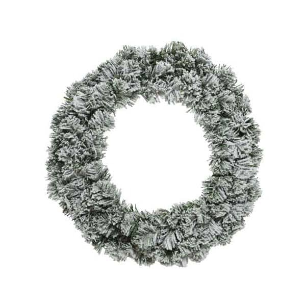 Kaemingk Snowy Imperial Wreath 35cm