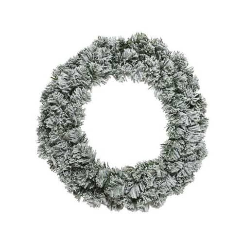 Kaemingk 50cm Snowy Imperial Wreath