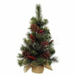 Kaemingk Everlands 75cm Xmas Tree-Berries  Cones