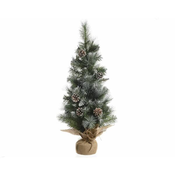 Kaemingk 75cm Frosted Tree in Jute Bag