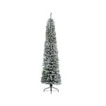 Kaemingk Snowy Pencil Pine 210cm Green/White