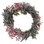 Kaemingk Everlands 40cm Berry/Snow Wreath