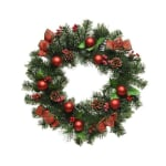 Kaemingk 50cm Wreath + Baubles & Ribbon