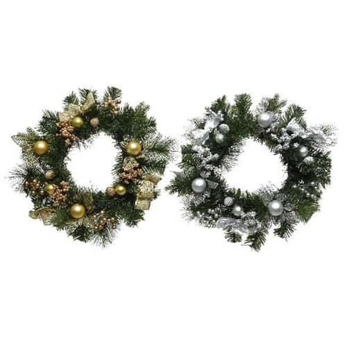 Kaemingk Everlands 30cm Wreath + Baubles