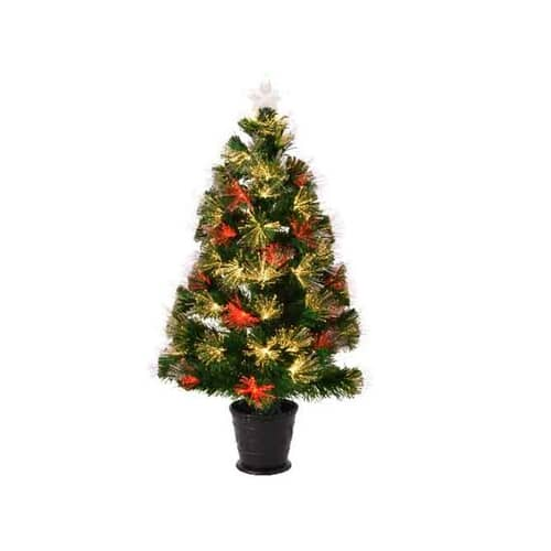 Kaemingk 3ft Alford Fibre Optic LED Tree