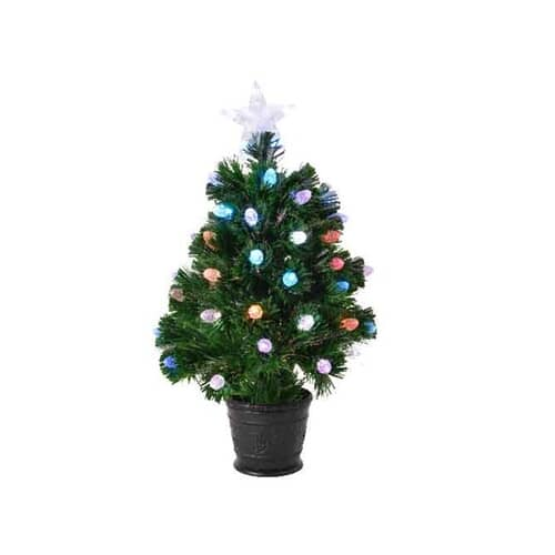 Kaemingk 3ft Prestwick Fibre Optic LED Tree