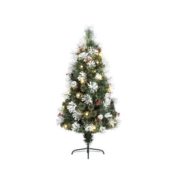 Kaemingk 4ft Morzine Dressed Fibre Optic LED Tree