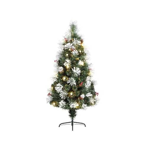 Kaemingk 4ft Morzine Dressed Fibre Optic LED Tree