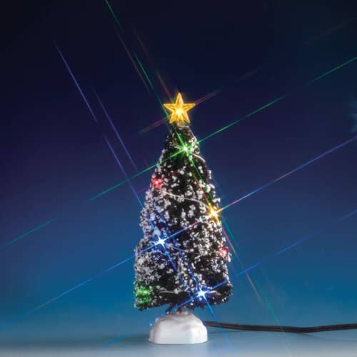 Lemax - Evergreen Tree With 12 Multi Light Battery Operated (4.5V)