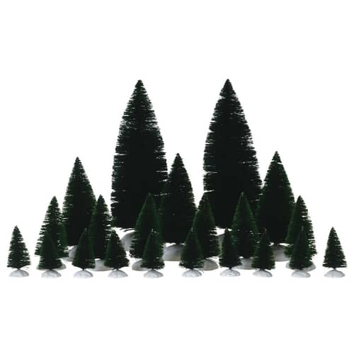 Lemax - 21 pc Assorted Fir Trees