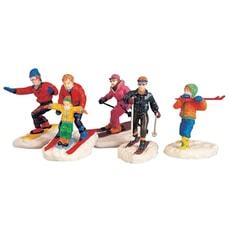 Lemax - Winter Fun Figurines Set Of 5