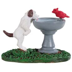 Lemax - Bird Bath Dog Fountain