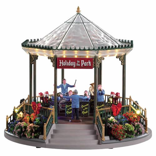 Lemax - Holiday Garden Green Bandstand With 4.5V Adaptor