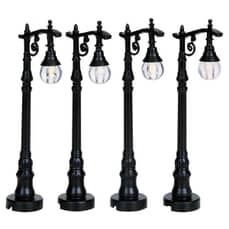 Lemax - Antique Street Lamp Set Of 4 B/O (4.5V)