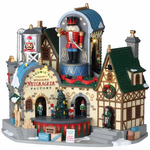 Lemax - Ludwigs Wooden Nutcracker Factory With 4.5V Adaptor