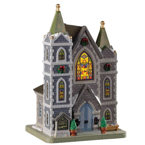 Lemax - St. Stephens Cathedral Battery Operated Led