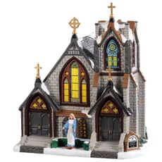 Lemax - St. Matthews Church Battery Operated Led