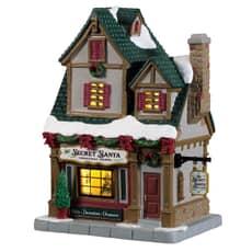 Lemax - The Secret Santa Christmas Shoppe Battery Operated Led
